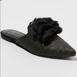a new day Antoinette Woven Tassle Pointed Mules